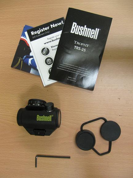 Bushnell Trophy Red Dot Trs 25 3 Moa Red Dot Reticle: Bushnell Trophy TRS-25 1xRed Dot Sight Riflescope
