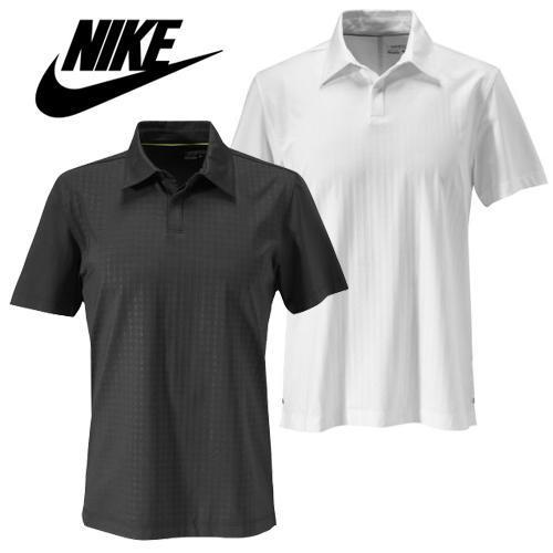 New-Nike-Dri-Fit-Premium-Embossed-Texture-Polo-Golf-Shirt-Black-or-White