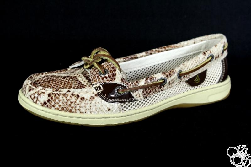 SPERRY-Top-Sider-Angelfish-Brown-Python-Womens-Slip-On-Boat-Shoes-New
