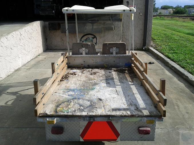 1992 ingersoll rand club car gasoline utility golf cart w. Black Bedroom Furniture Sets. Home Design Ideas
