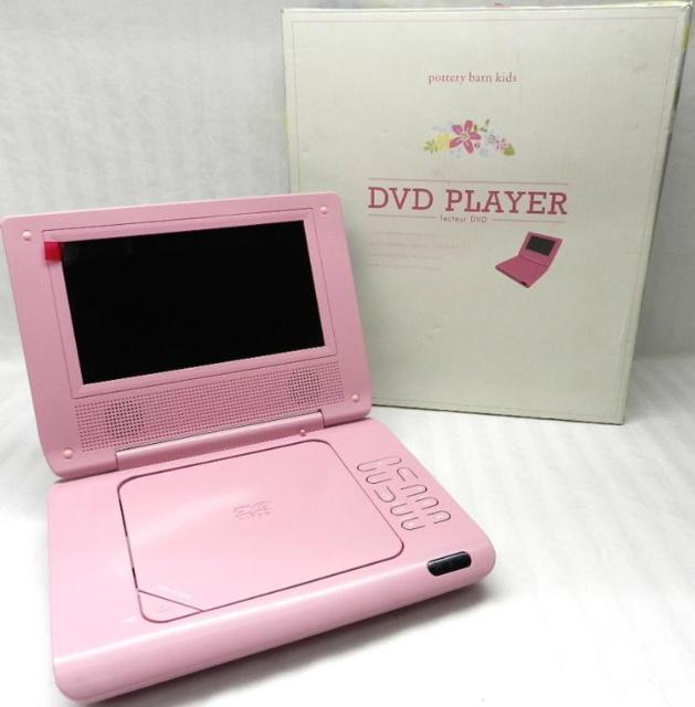 pottery barn kids girls pink floral 7 portable dvd player ebay. Black Bedroom Furniture Sets. Home Design Ideas