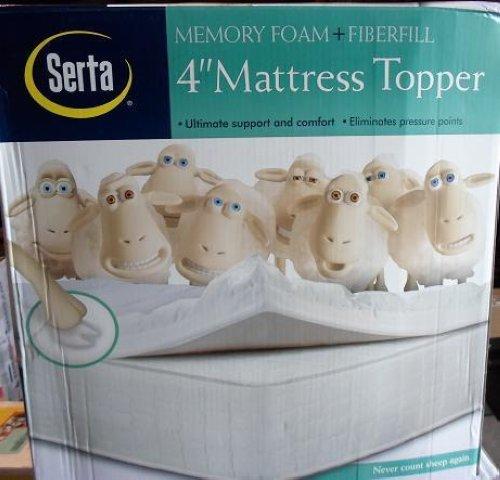 serta 4 inch memory topper dual layer mattress topper ebay. Black Bedroom Furniture Sets. Home Design Ideas