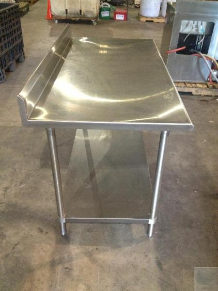5 39 stainless steel commercial kitchen counter with table for Stainless steel countertops cost per sq ft