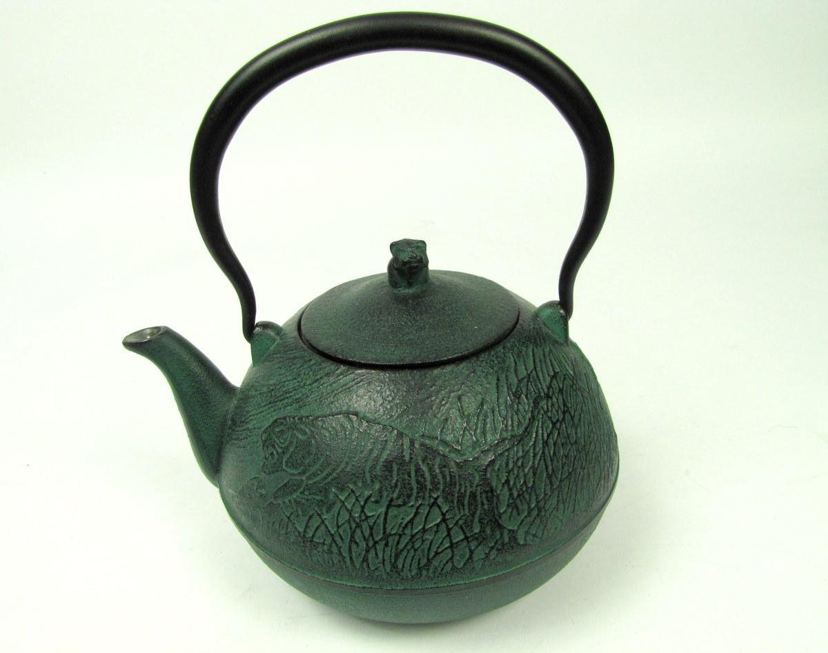Teavana japanese green cast iron tiger tea pot cups Green tea pot set