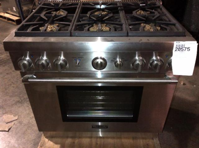 """Thermador Gas Cooktop With Downdraft: THERMADOR PRG366GH 36"""" PRO-STYLE GAS CONVECTION RANGE"""