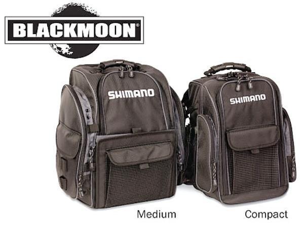 Shimano blackmoon fishing backpack compact blmbp260bk new for Shimano fishing backpack