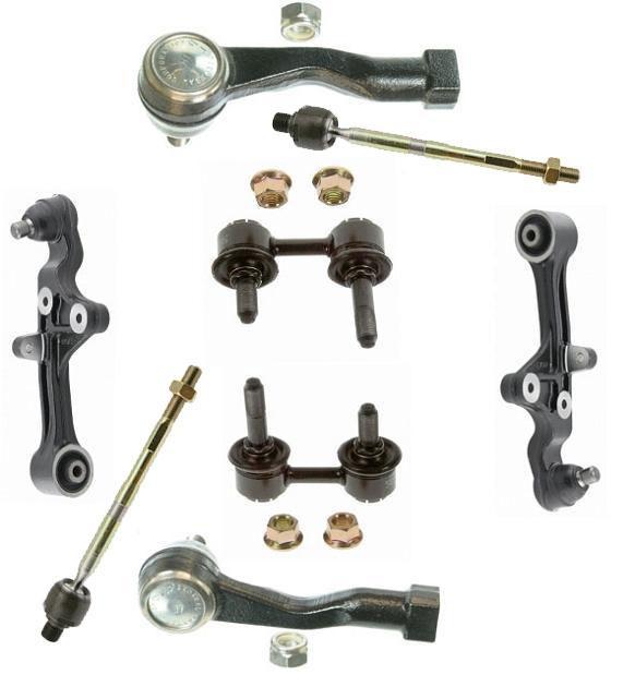 8 Piece Suspension Control Arm Tie Rod Kit Front For 92 96: 02-05 8PC Suspension Kit Control Arm, Ball Joint Tie Rod