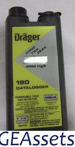 Data Loggers And Natural Gas Detectors : Drager draeger datalogger h s so hydrogen sulfide
