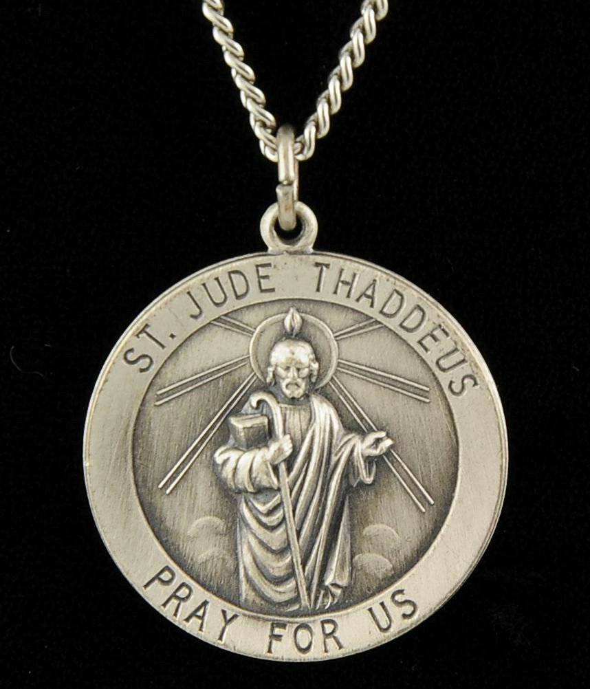 925 sterling silver st jude thaddeus pendant 900 coin
