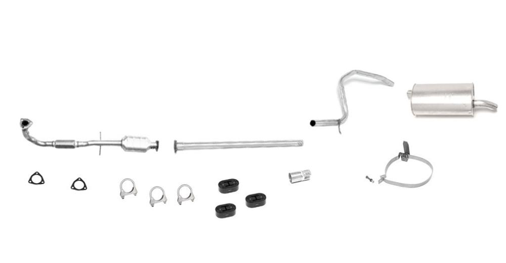saturn s series sohc flex pipe converter  u0026 muffler exhaust system cal emis only