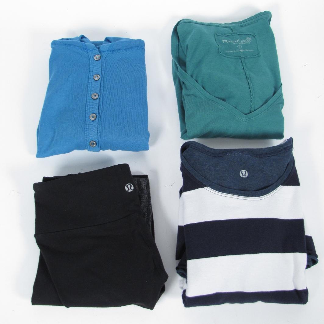 Lot 2 Lululemon Work Out Yoga Wear Top Pants Size 4 Bags 2