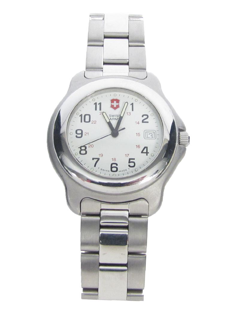 Men's Swiss Army Officer's Wrist Watch Stainless Steel ...