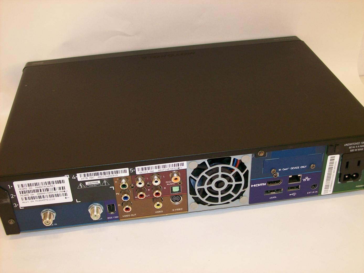 Comcast motorola Box Manual