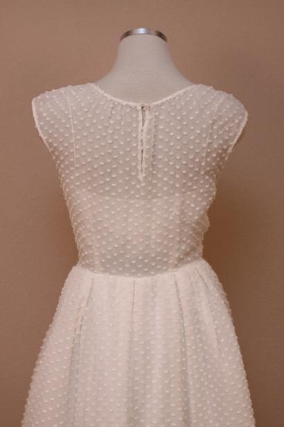 J crew 1400 carenna swiss dot gown 10 ivory formal dress for Dotted swiss wedding dress