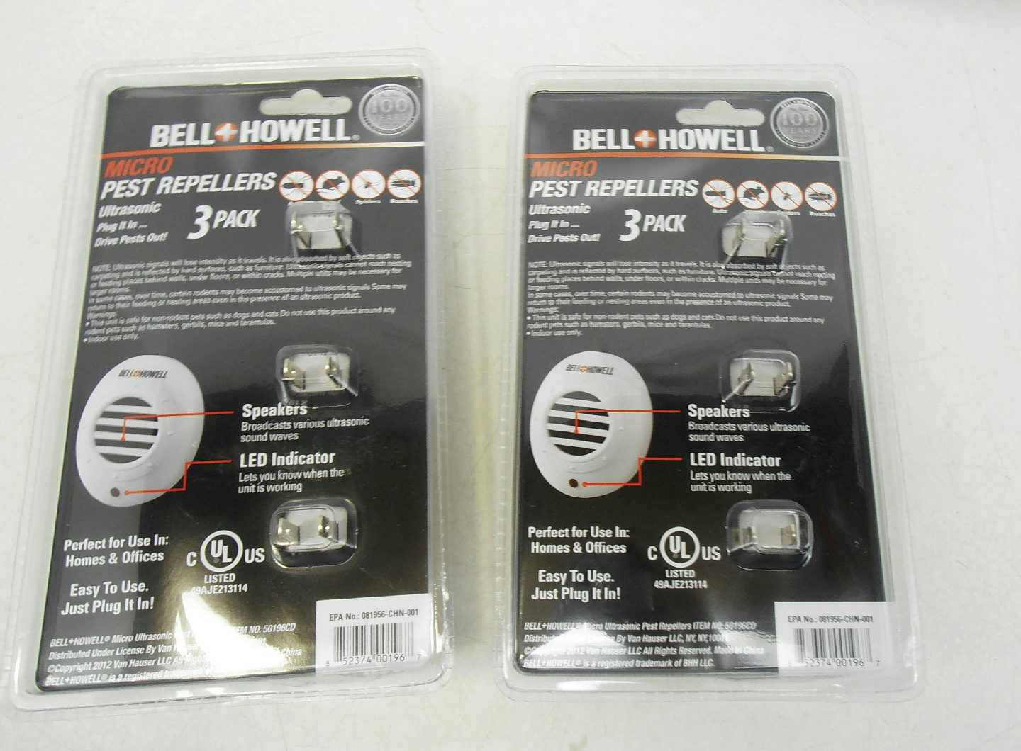 What Stores Accept Paypal Credit >> LOT OF 2 Bell+Howell Mini Discreet Micro Ultrasonic Pest ...