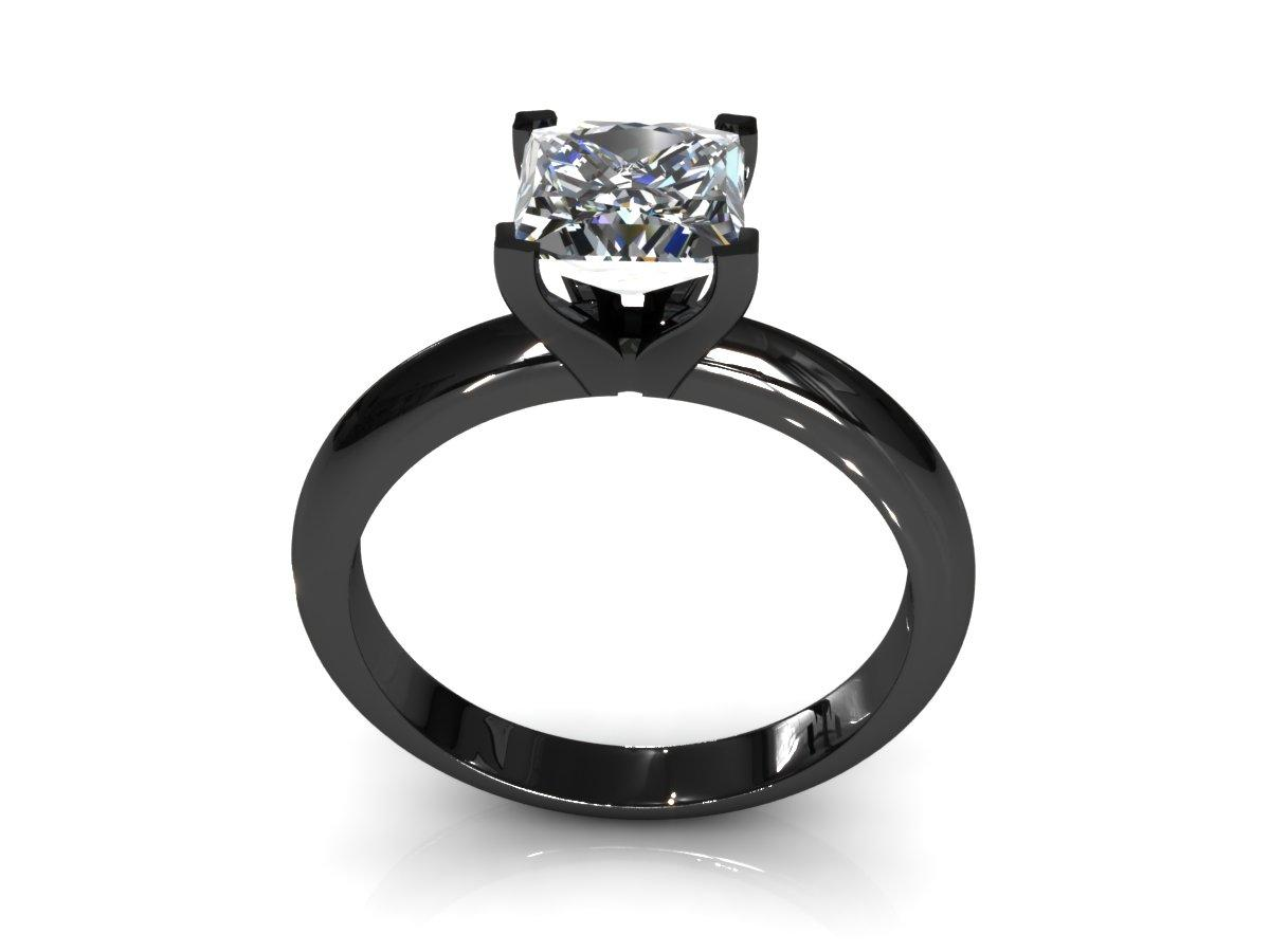 Black And White Princess Cut Diamond Engagement Rings Laura Williams