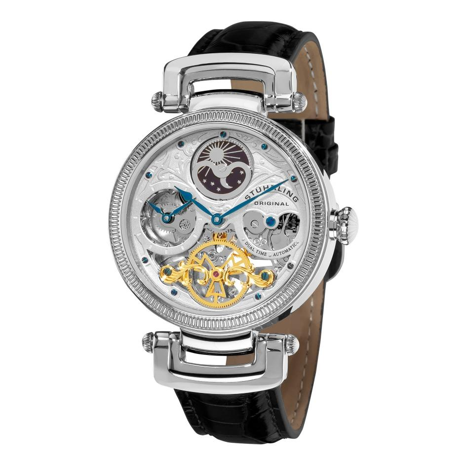 stuhrling 353a 33152 magistrate skeleton automatic silver