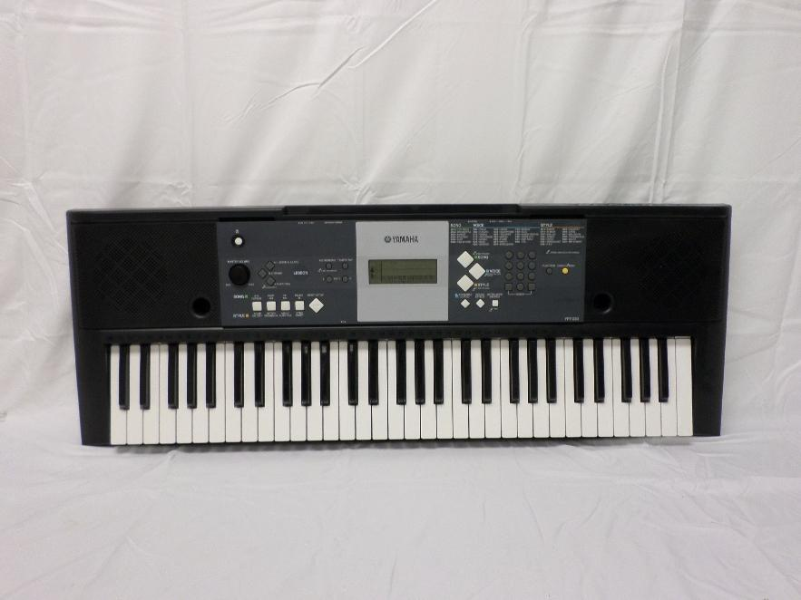 yamaha ypt 230 premium electric keyboard black white ebay. Black Bedroom Furniture Sets. Home Design Ideas