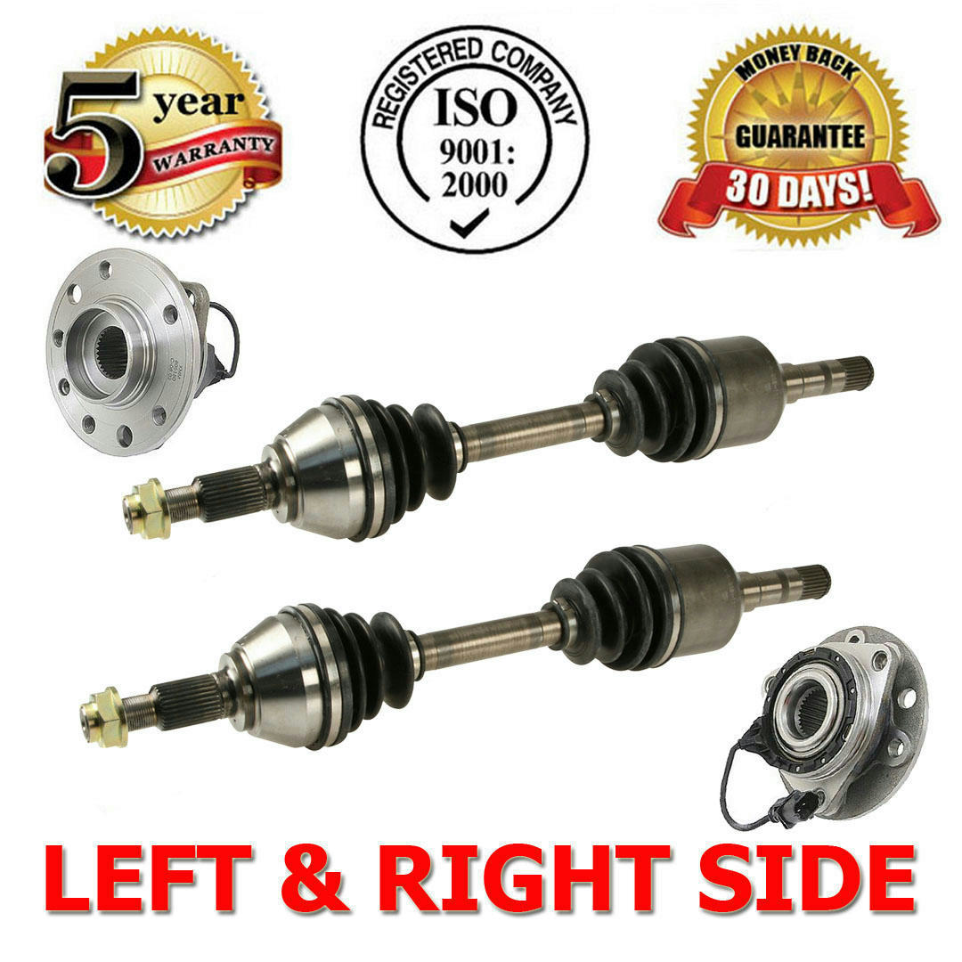 front left  u0026 right axle cv half shaft assembly   hub wheel