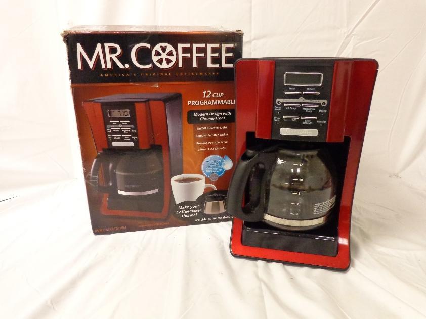 Mr. Coffee BVMC-SJX36GTWM 12-Cup Coffeemaker Red eBay