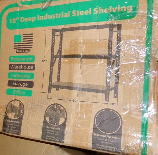 edsal erz601866pb3 muscle rack heavy duty steel bulk. Black Bedroom Furniture Sets. Home Design Ideas