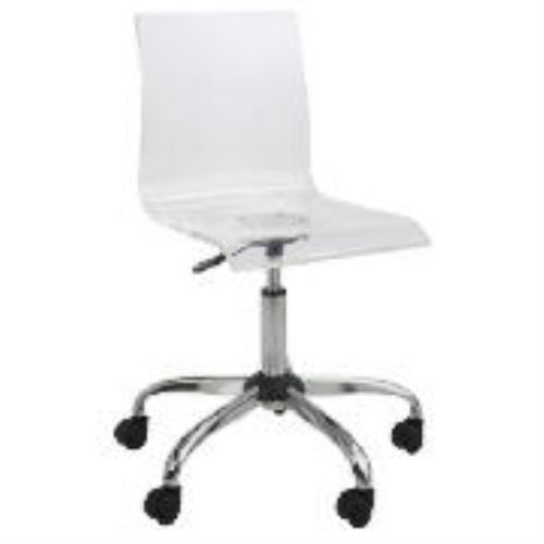details about clear acrylic high back modern office chair