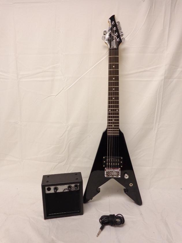 first act me276 tween electric guitar with amp black arrow ebay. Black Bedroom Furniture Sets. Home Design Ideas
