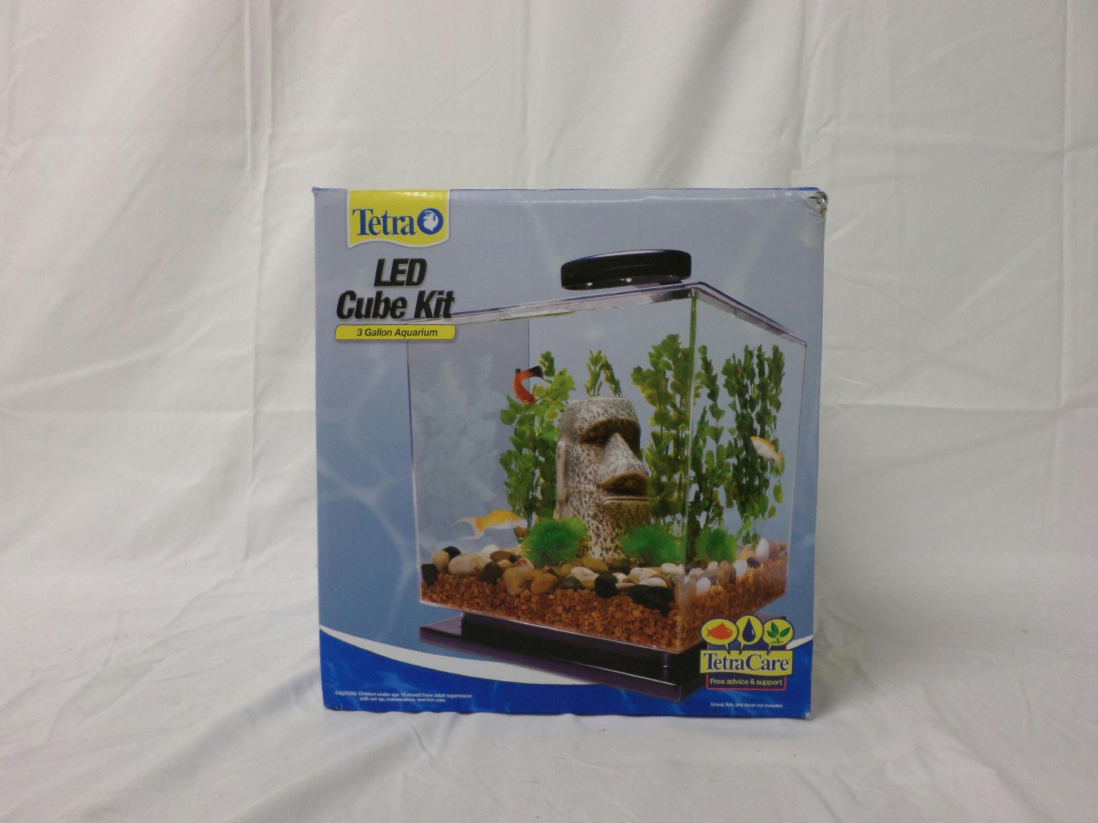 Tetra 29095 cube aquarium kit 3 gallon led lights ebay for Aquarium cube