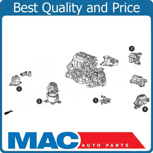 2010-2011 Acura TSX 3.5L Transmission Engine Motor Mount