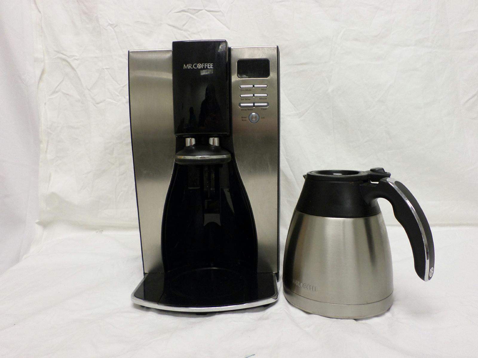 Thermal Coffee Maker Mr Coffee : Mr Coffee 10 Cup Stainless Steel Thermal Coffee Maker BVMC PSTX91 Black Silver eBay