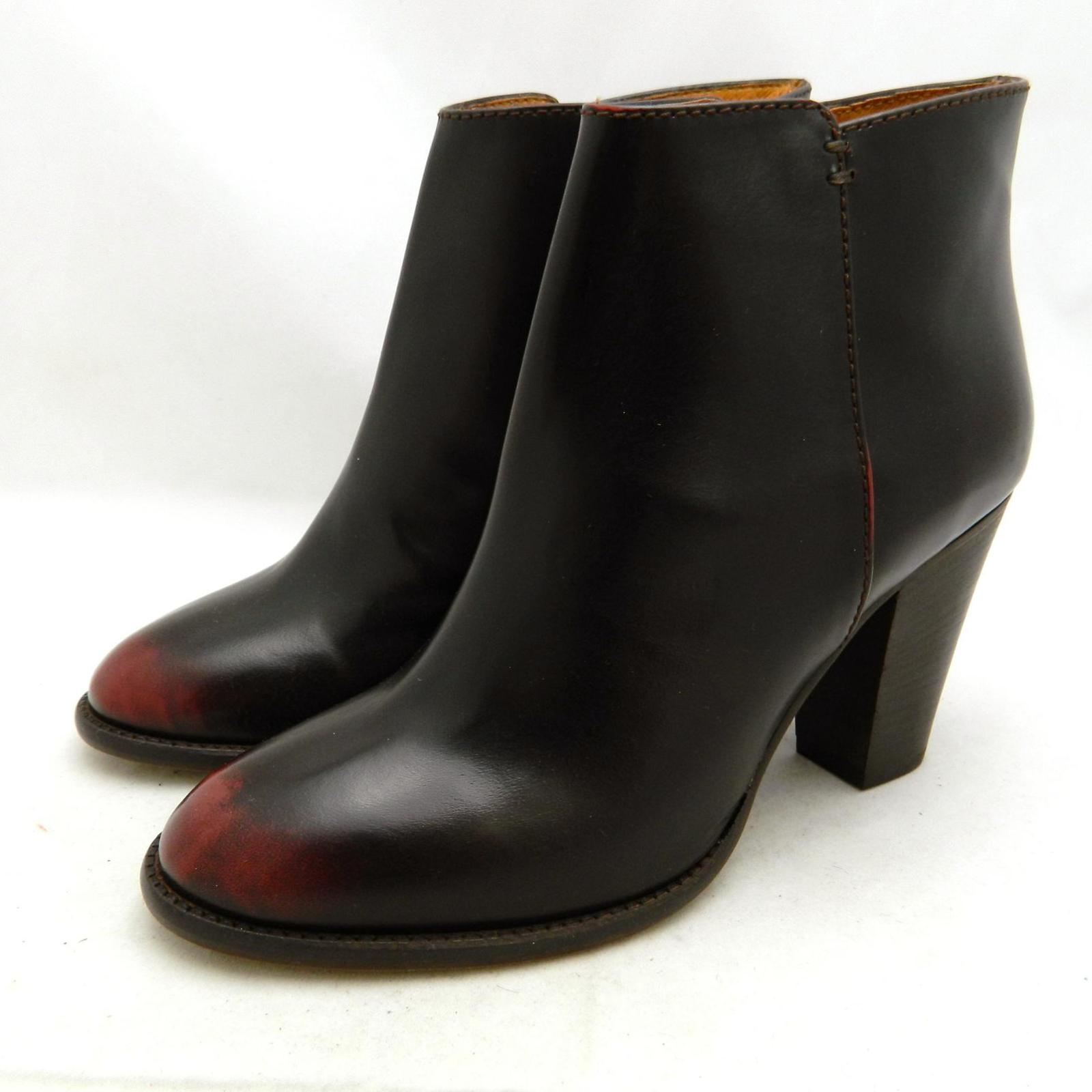 madewell 268 leather hadley boots 9 5 wine shoes ebay