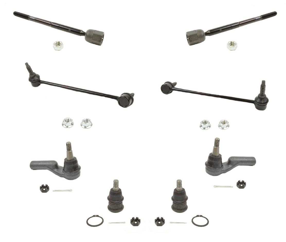 4 Brand New Premium FRONT Inner Outer Tie Rods 1995-2002 Lincoln Continental
