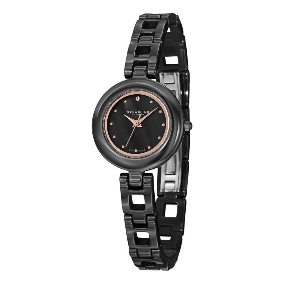 Stuhrling original le petit swiss quartz swarovski crystal womens watch ebay for Crystal ladies watch