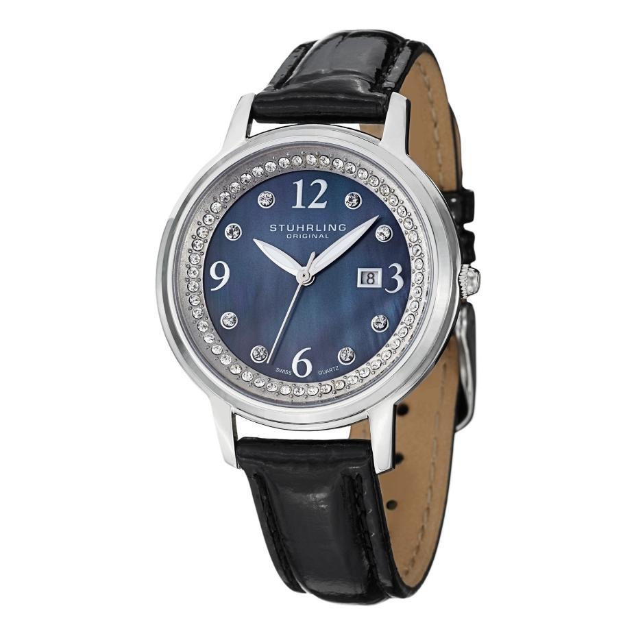 Stuhrling original dancer quartz swarovski crystal womens watch ebay for Crystal watches