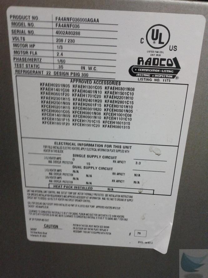 Carrier Electric Air Conditioner 3 Ton 38ckc036350