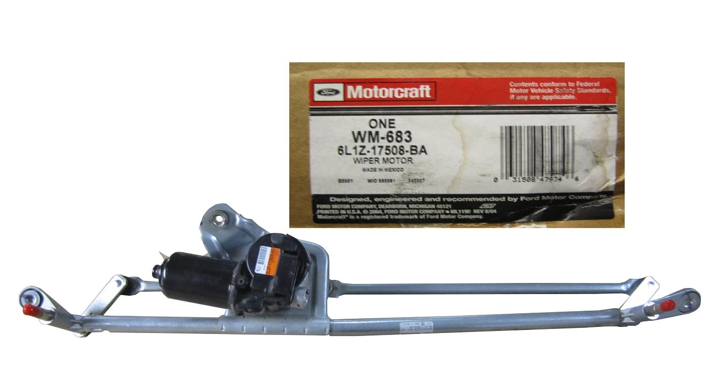 New Motorcraft Ford Lincoln Wiper Motor Assembly Linkage