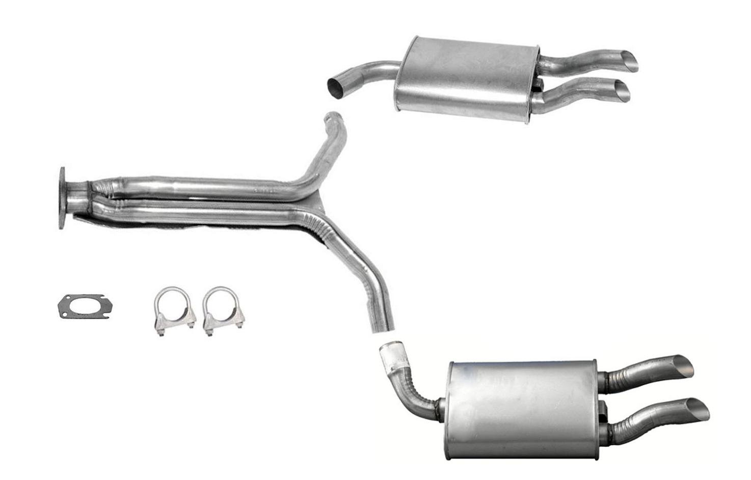 1985 Corvette Muffler Exhaust System New 4b1243 18418