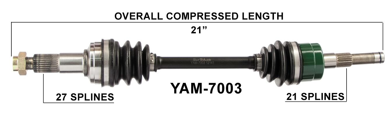 Yamaha Grizzly front right cv axle 660