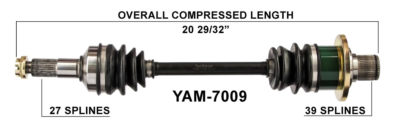 Rear ATV CV Joint Axle Shaft Left Right for 03 04 05 06 07 08 Yamaha Grizzly 660