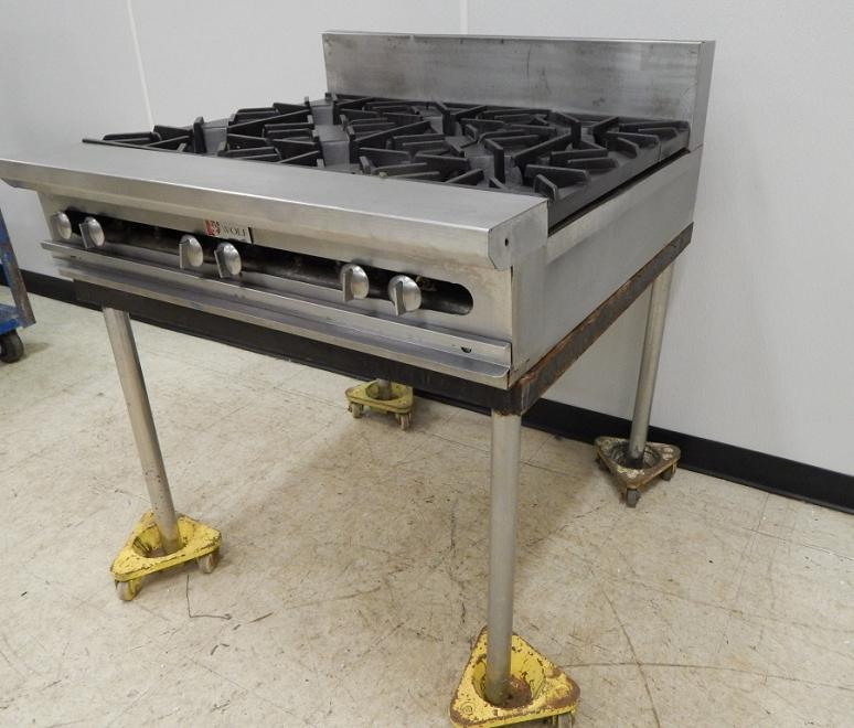 Countertop Gas Range : Details about Wolf 6 Burner Gas Countertop Range, on Legs
