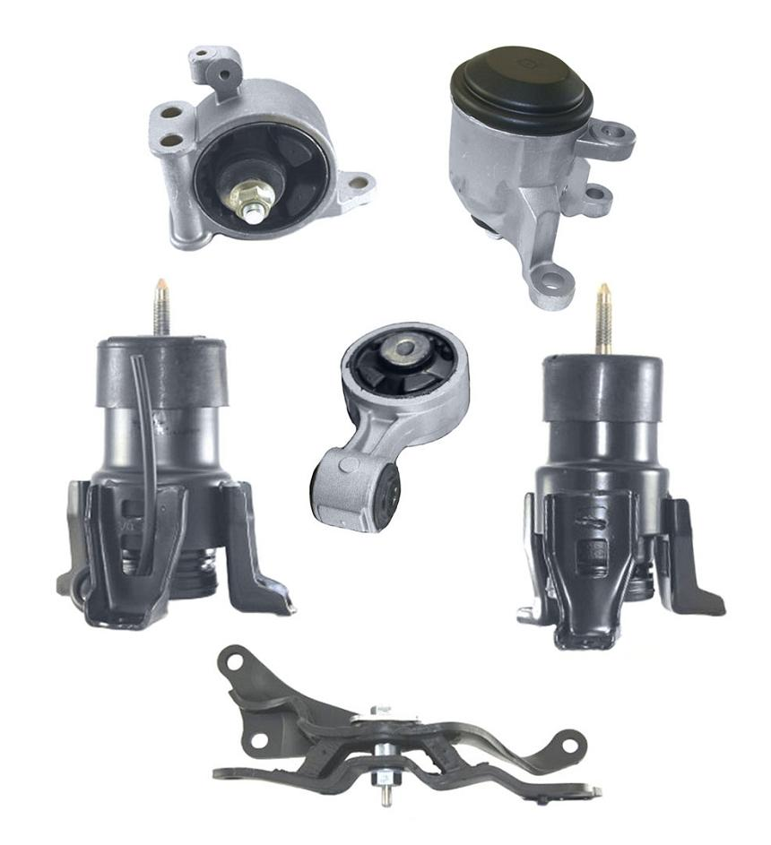 Engine motor mount 6pc kit fits altima 07 12 3 5l cvt a t for New motor and transmission
