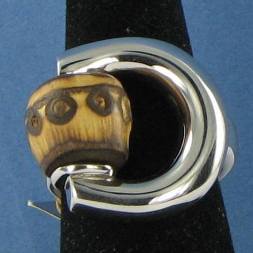 gucci bamboo horsebit ring sterling silver aged palladium