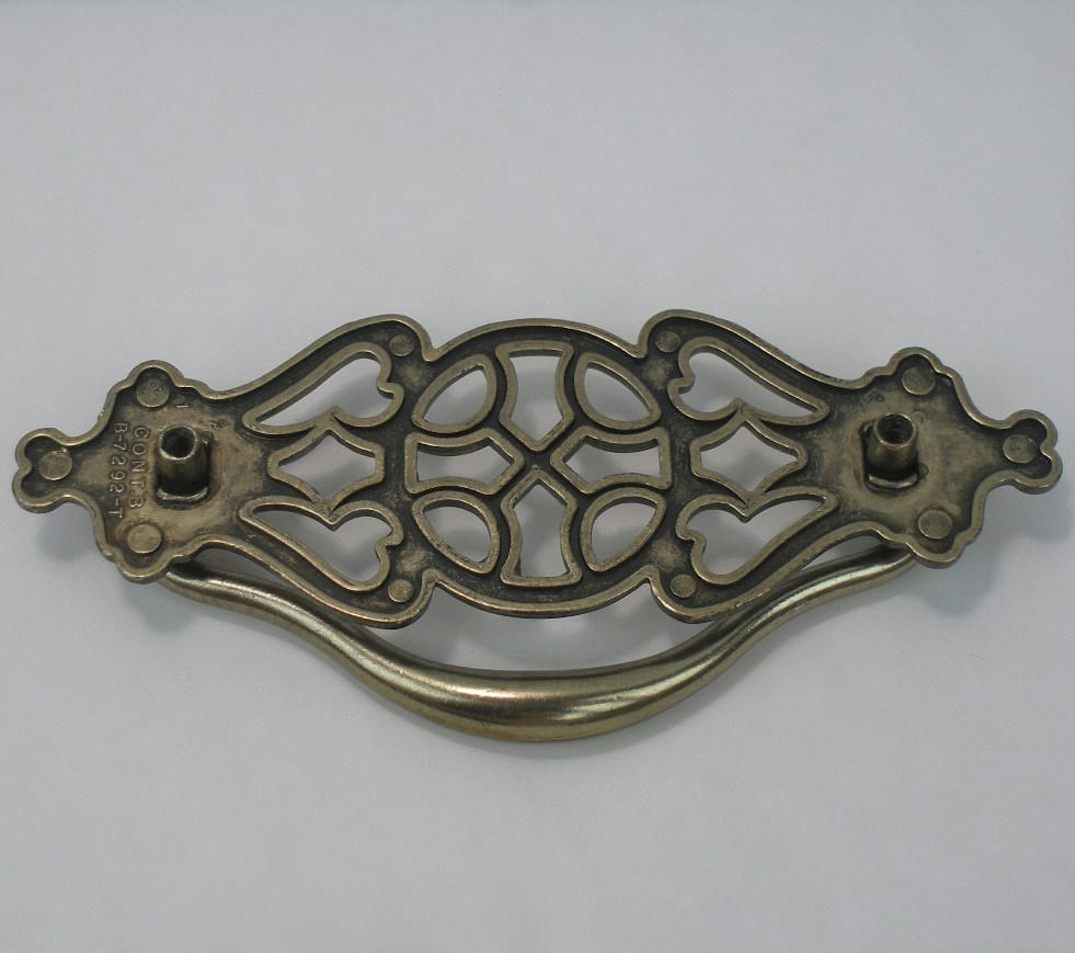 antique brass finish metal drawer pull handles for cabinet furniture