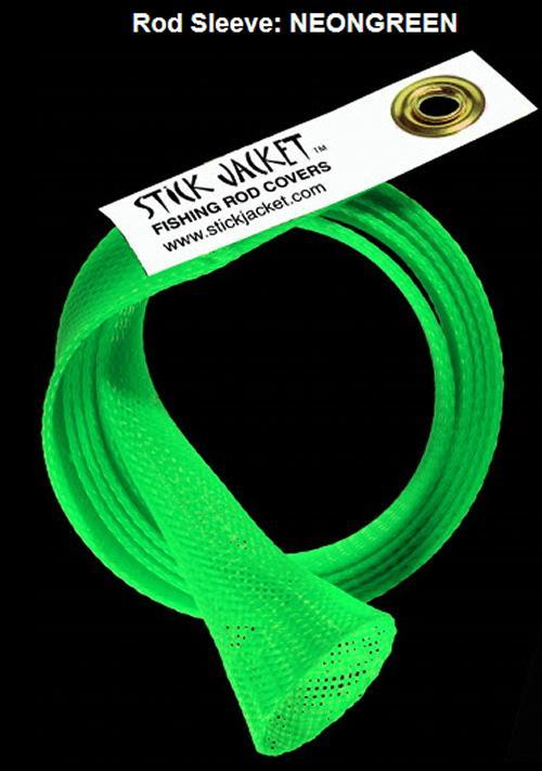 Stick Jacket Fishing Rod Cover Neon Green For Casting Rods