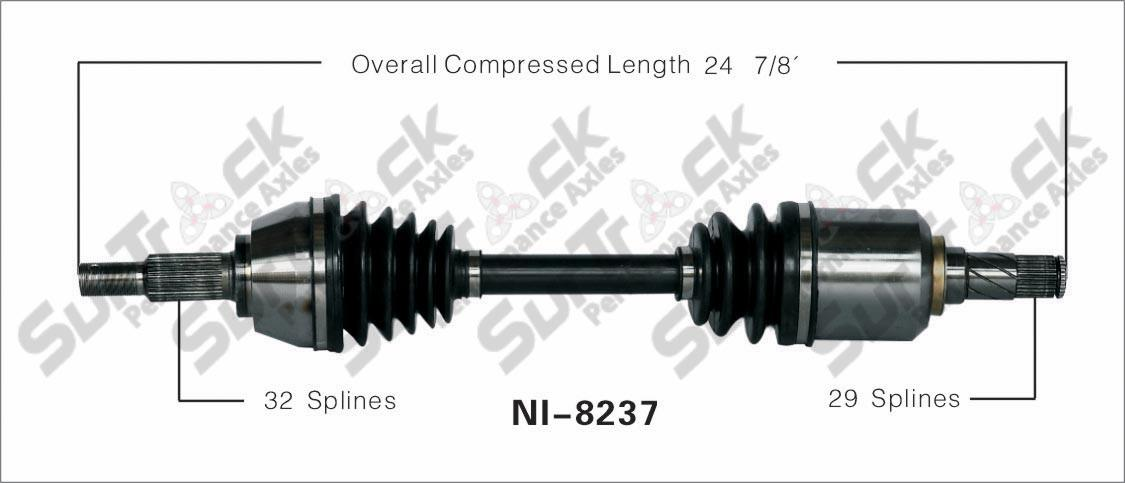 new cv drive axle shaft fits nissan altima 3 5l a  t 2007