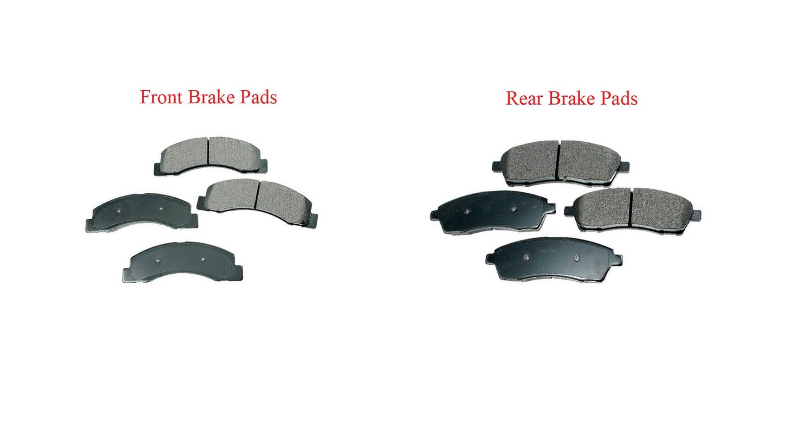 1988-1996 Chevrolet Corvette Front /& Rear Xtra Duty Ceramic Brake Pad Set Sets