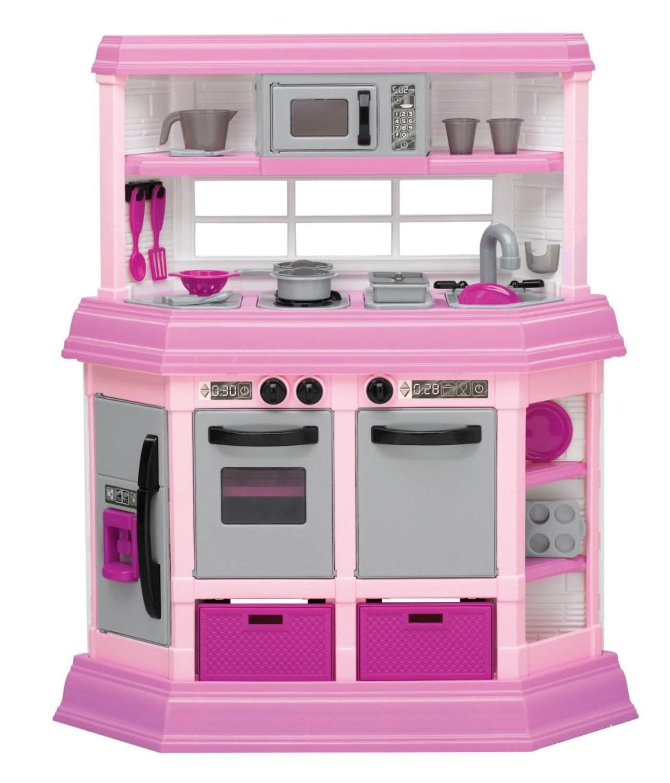 Kids toy kitchen play set mini girls doll house ebay for Toddler kitchen set