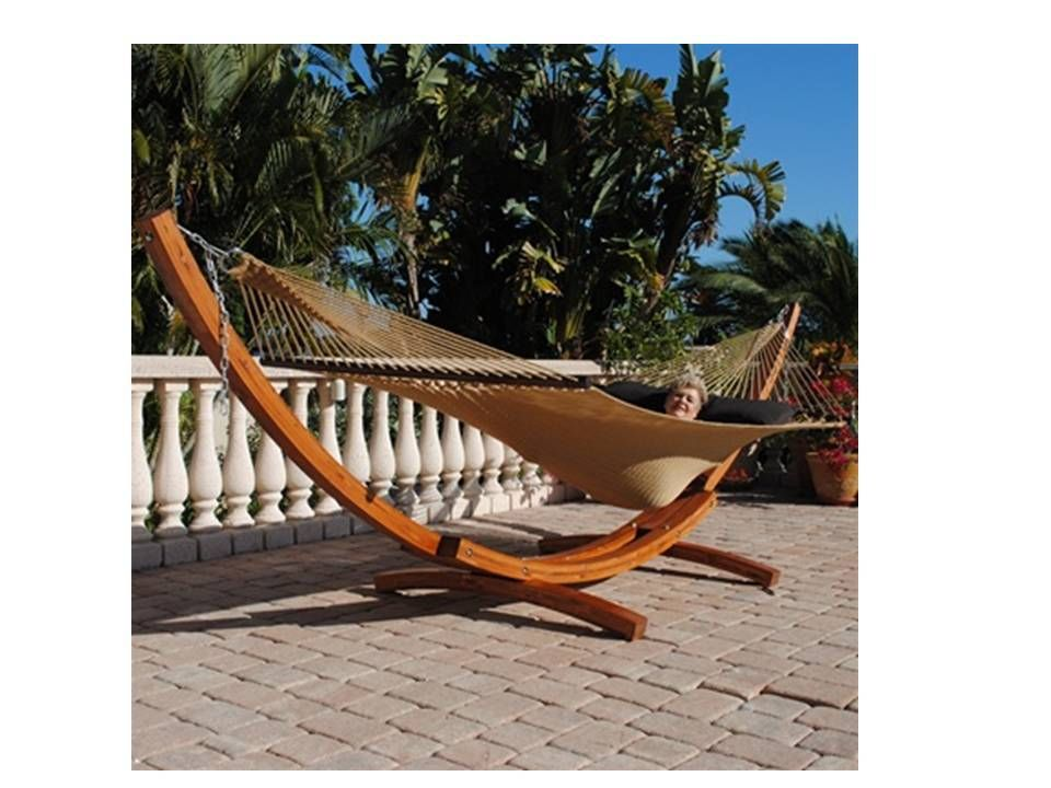 Cool Wood Arc Hammock Stand Plans Woody Work Perfect