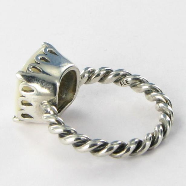 Pandora Mother Of Pearl Ring Ebay