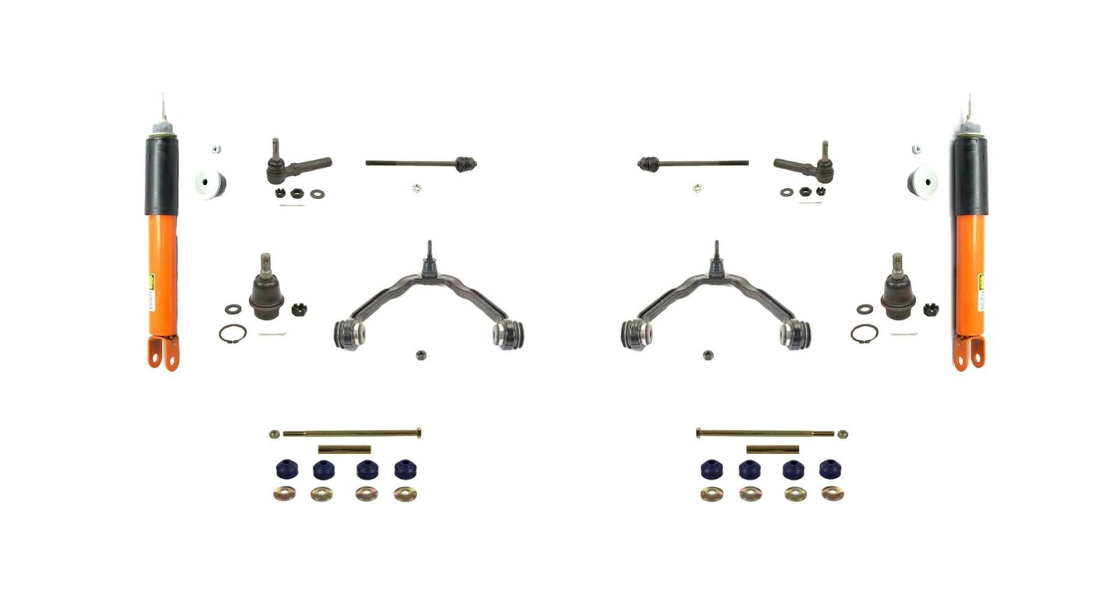 2  monroe 40044 electronic front shocks with chassis kit tahoe yukon escalade